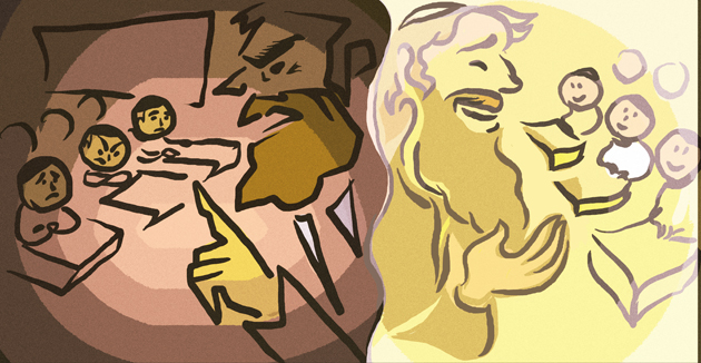 לערער קענען זײַן צדיקים אָדער שלאַנגען