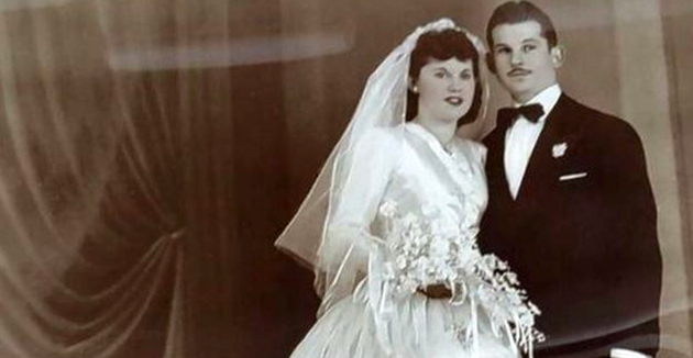 דאָס פּאָרפֿאָלק בײַם חתונה האָבן אין 1947