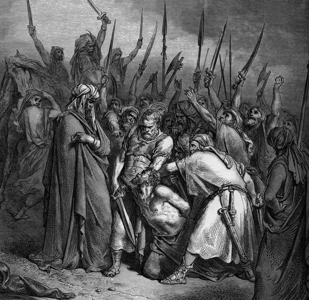 דער נבֿיא שמואל דערהרגעט אַגג, דעם קיניג פֿון די עמלקים