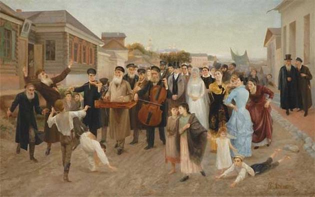 """""""אַ ייִדישע חתונה"""", איזאַק אַשכּנזי, 1893"""