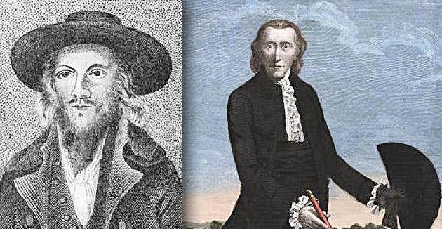 לאָרד דזשאָרדזש גאָרדאָן, אַ בריטישער פּאָליטיקער און אויפֿשטענדלער קעגן דער מלוכה, וועלכער האָט זיך מגייר געווען אינעם יאָר 1787, פֿאַרן און נאָכן גיור
