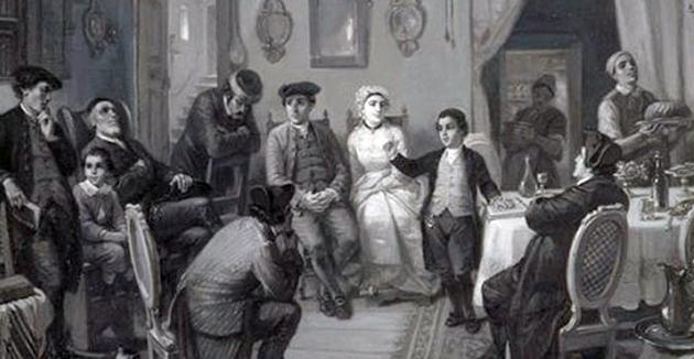 די בר־מיצווה, בילד פֿון מאָריץ אָפּענהײַם, 1873