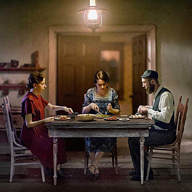 """The Potato Eaters"" (די קאַרטאָפֿל־עסער) — אַן אימאַזש פֿון ריטשאַרד טושמאַנס אַנטוויקלענדיקע קונסטווערק"