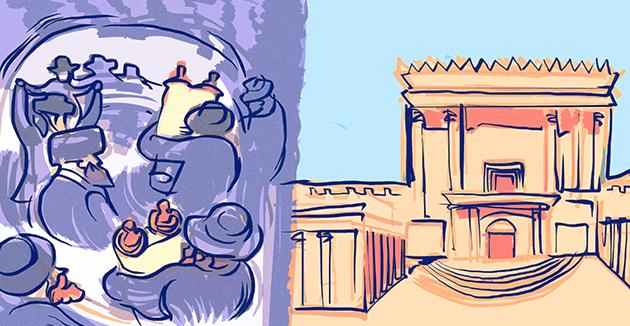 כּמו בתּי־מקדשות הײַנטיקע צייטן