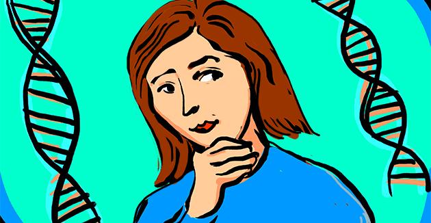 ווער ווייסט וואָס ליגט באַהאַלטן אין מײַן די־ען־איי?