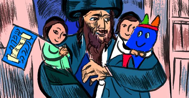 װי פּראַװען חסידים די לעצטע טעג סוכּות?