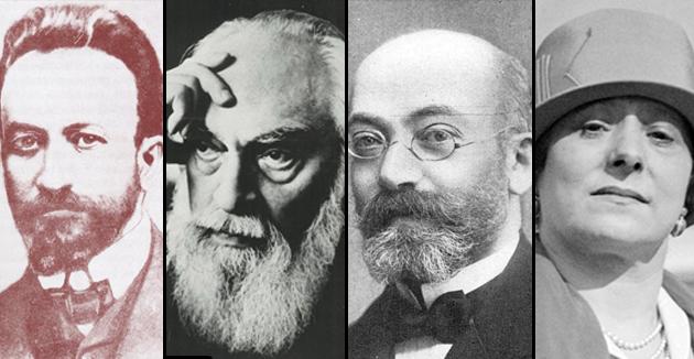 פֿון רערטס: העלענאַ רובינשטיין, לודוויג זאַמענהאָף, אַרי שטערנפֿעלד און אַדאָלף בעק