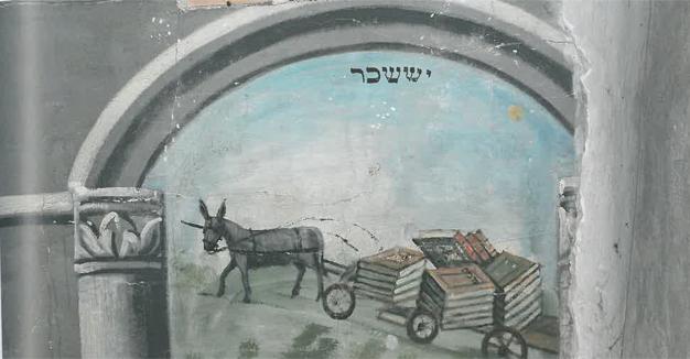 אַ מוסטער פֿון אַ שיל־מאָלערײַ אין דער בוקאָווינע.