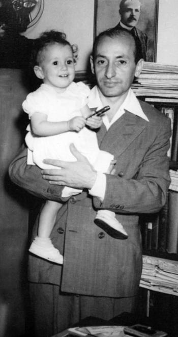 לייזער ראַן מיט זײַן טעכטערל, פֿייגעלע, 1949 אין האַוואַנע