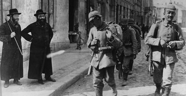 דײַטשישע סאָלדאַטן און ייִדן אין צאַנז, פּוילן 1916