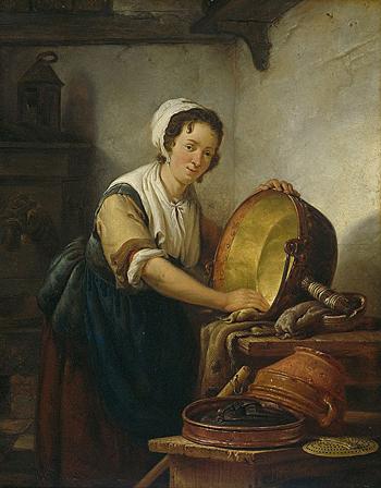"""""""בילד פֿון אַ דינסט"""", אַבראַהאַם וואַן סטרי (1753—1826)"""