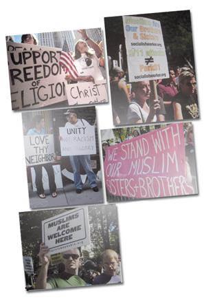 די הייסע דעבאַטע אַרום דעם מוסולמענישן קהילה-צענטער אין 2009