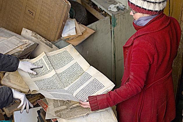 אַ פֿאַרלאָזטער אַרכיוו, וואָס מע האָט אַנטדעקט אינעם עזרת־נשים פֿון דער שיל פֿון מעדיאַש, אין 2009