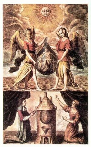 אַ מלאך און אַ מלאכטע אינעם אַלכעמישן סימבאָליזם