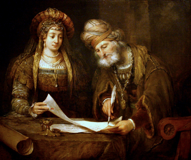 מרדכי און אסתּר פֿון אַערט דע געלדער